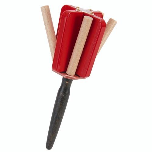 良くなる子「イキな赤」どの方向に振っても小さな力や動きでも新しい打楽器